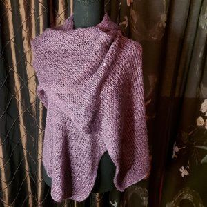Cute Purple Scarf with Bling